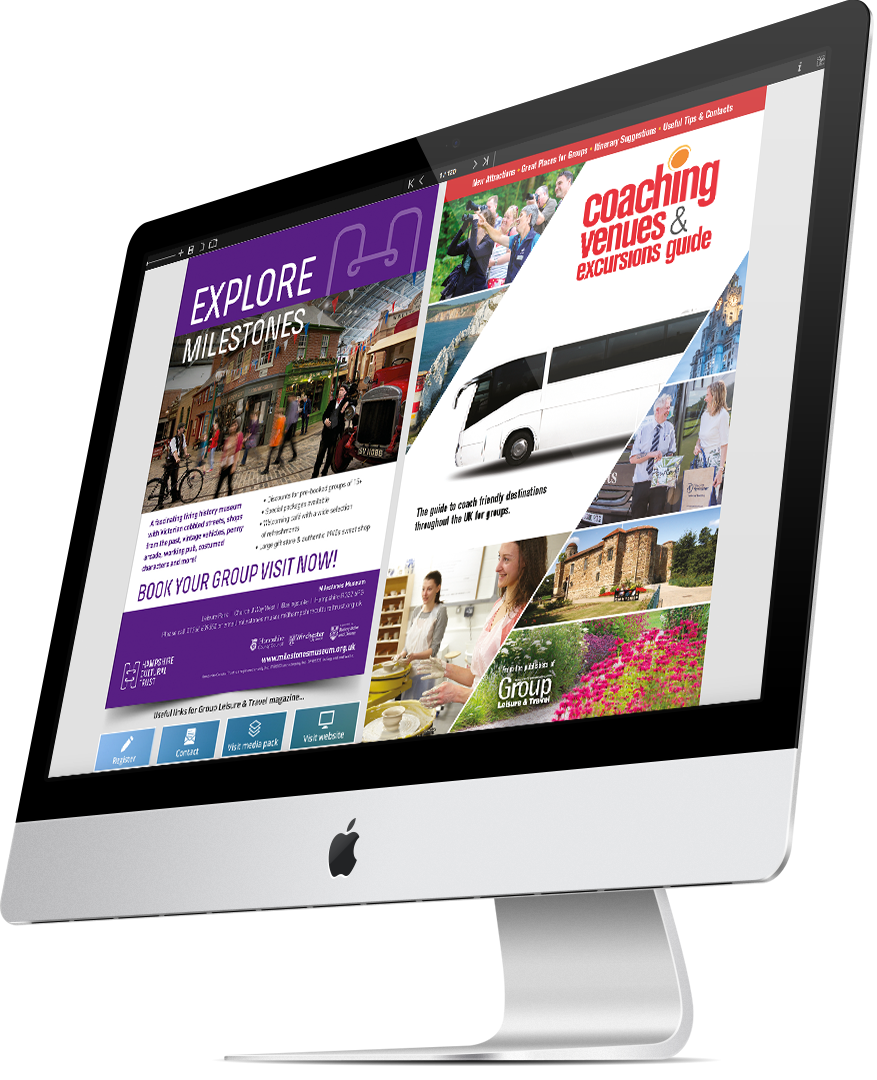 Coaching Venue & Excursions Guide e-guide on-screen