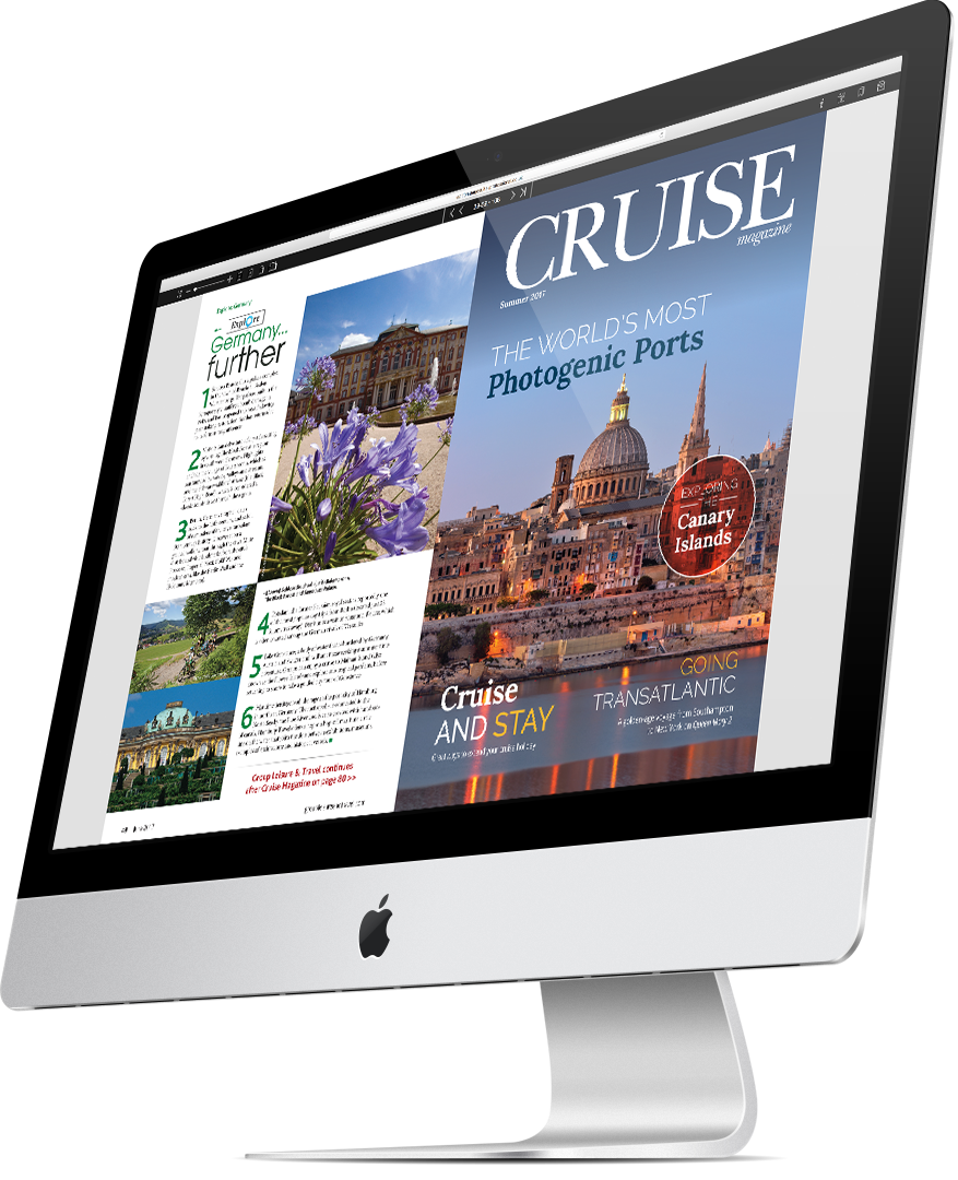 Cruise e-magazine on-screen