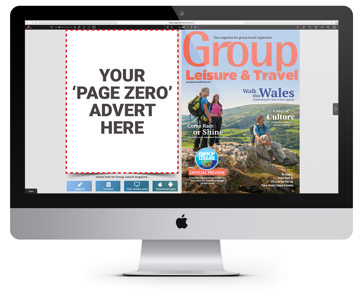 Group Leisure e-magazine 'Page Zero' placement