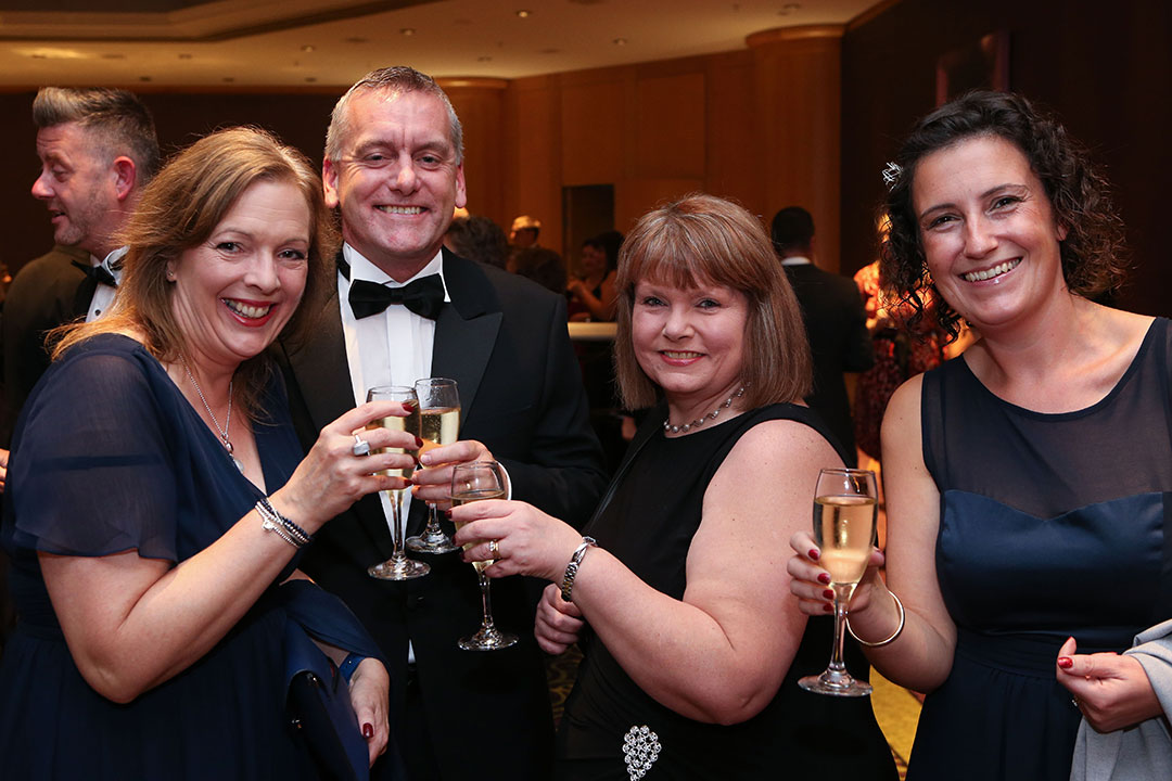 The Fred. Olsen team enjoying the Group Leisure Awards afer party