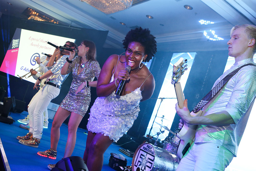 Group Leisure Awards band The Talent, performing at the after party